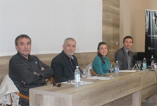 Marko Musović, Stjepan Skoko, Danijela Ucović i Ivan Vukoja na konferenciji za novinare